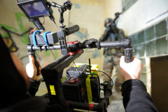 <p>The Beast Gimbal while shooting action.</p>