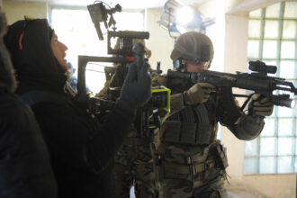 <p>Shooting army with The Beast Gimbal on site.</p>