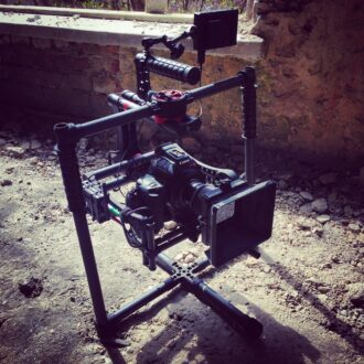<p>The Beast Gimbal rests after shooting in ruins.</p>