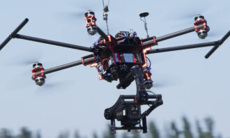 <p>The Beast Gimbal flying with Monster X.</p>